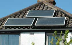 Solar Panels installed on a house